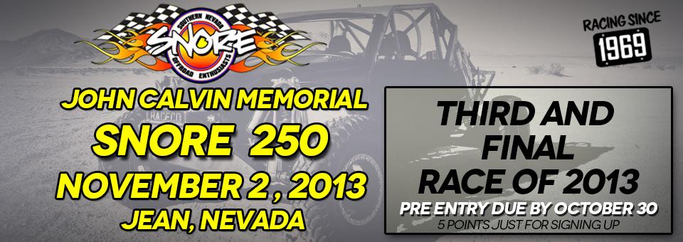2013 SNORE 250 Race Details