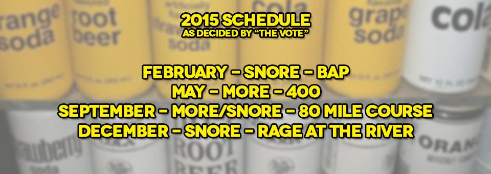 2015 C5C Race Schedule