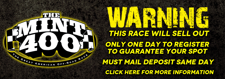 2016 BITD MINT 400 – Registration